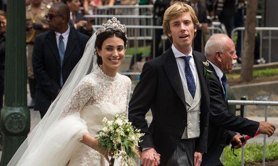 Los tres vestidos de novia de Alessandra de Osma, Princesa de Hannover.