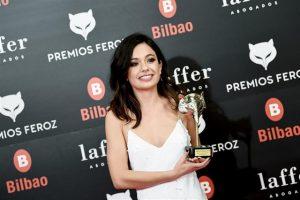 Anna Castillo tras recibir su Premio Feroz 2019
